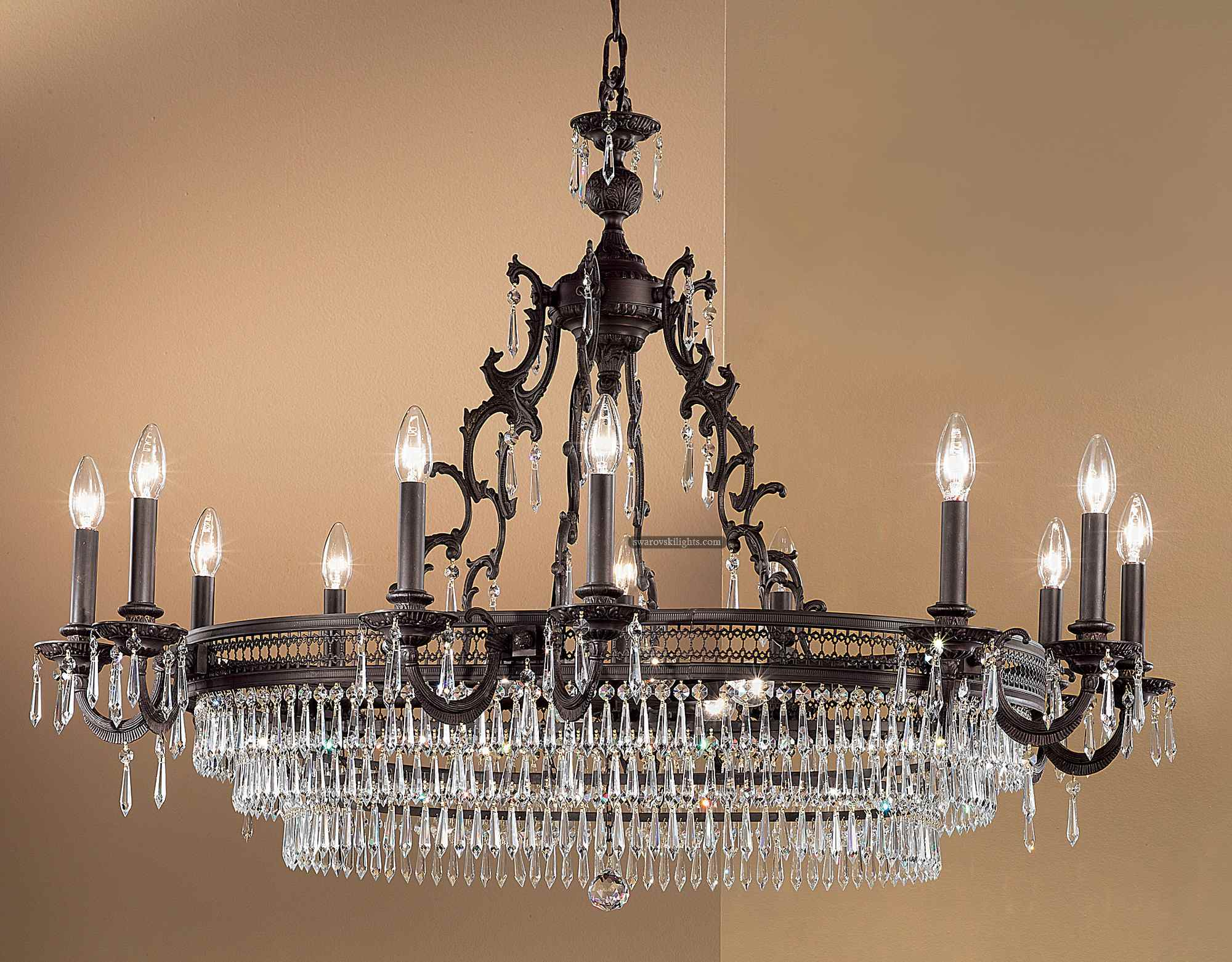 dibs furniture lighting id chandelier lights condition chandeliers angeles wrought for sale l los good italian in gold crystal f at and iron pendant