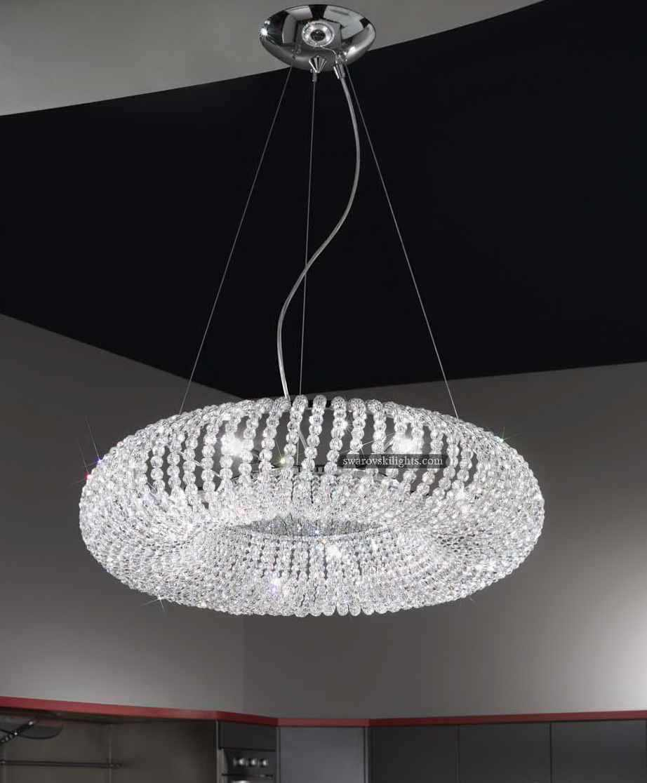 Wide Crystal Chandelier
